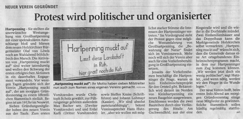 Bericht Holzkirchner Merkur vom 16.04.2014